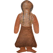 Old Doll Leather Indian Doll Native American Rag Doll Cloth Doll