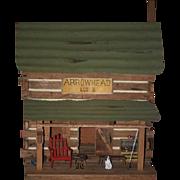 Wonderful Dollhouse Log Cabin Miniature  Arrowhead Lodge Wonderful Dollhouse