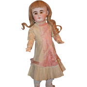 Antique Doll  Bisque Sonneberg French Market Closed Mouth Dressed and Ready To Play!
