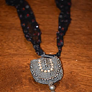 Wonderful Doll Lace & Bead Collar and Miniature Beaded Purse
