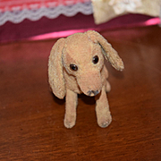 Old Doll Toy Dog Miniature For Fashion Doll Button Eyes Mohair Floppy Ears SOOOOOO CUTE! Dachs