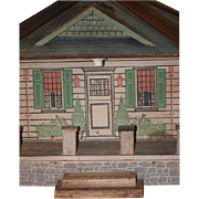 Antique Doll Dollhouse Miniature Wood Painted Litho
