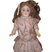 Antique Doll Bisque Mystery Maker Child Doll Sweet Cabinet Size Straight Wrist Sonneberg