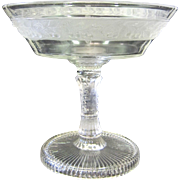 Vintage Pressed Glass Compote