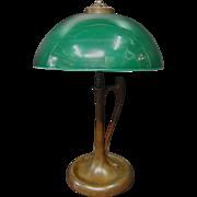 Vintage Emeralite Table Lamp