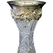 Sterling & Crystal Vase