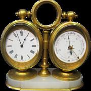 Tiffany & Co. Desk Clock/Barometer/Thermometer