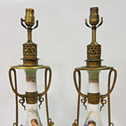 Frenc Porcelain Lamps