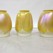 Quezal Art Glass Shades (3)