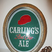 SOLD Carling's Red Cap Ale Sign, 1933-1954
