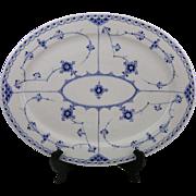 EARLY MARK Royal Copenhagen Blue Fluted Half Lace Porcelain 1/641 Oval Platter