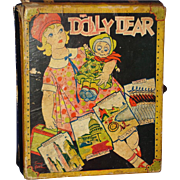 Vintage Dolly Dear Sewing Kit Bisque Doll & Materials Trunk Transogram