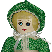 Neo-Presbyterian Cloth Benefit Rag Doll All Original 1982 Bucyrus Ohio