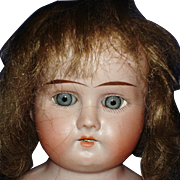 "13"" AM Mabel Bisque Shoulder Head Doll with MaMa Crier"