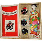 Katsuraningyo with Three Wigs Japanese Doll in Box Japan 1950s