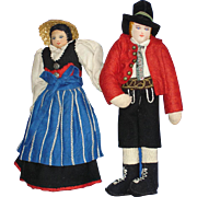 Tagged Cloth Austrian Tirol Dolls European Handcrafted Ethnic