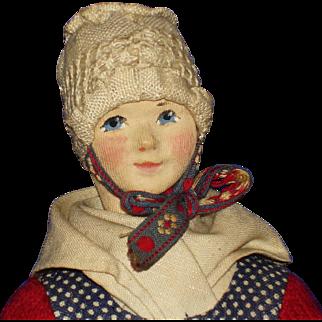 Artist  Ingeborg Nielsen Regional Cloth Doll Denmark 1940s-on