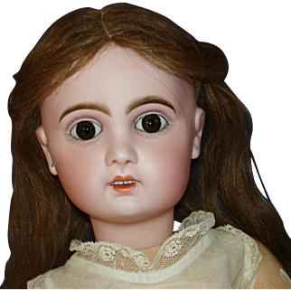 """Antique 22"""" Tete Jumeau Bebe Doll Size 10 France 1885-on Open Mouth"""
