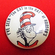 """I've Seen """"The Cat in the Hat"""" At Hudson's Pinback Button 1960's"""