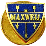 Rare Maxwell Motor Car Automobile Company Logo Advertising Lapel Pin ca. 1920-1925