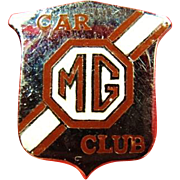 Vintage 1960's Automobile MG Motor Club Lapel Pin British Made