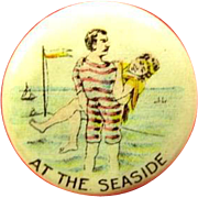 At The Seaside NJ Shore Related Maybe American Pepsin Gum Company Premium Celluloid Pinback ..