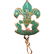 SALE PENDING Boy Scout Assistant Scoutmasters Rank Dress Pin ca. 1915-1920s