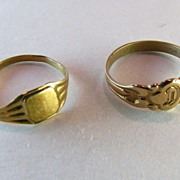 Baby Ring Set 10k Solid Gold Victorian to Deco