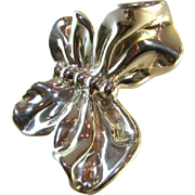 Large Sterling Butterfly Brooch