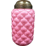 Victorian Consolidated Glass Pink Lattice Cone 1894