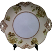 """Vintage Old Ivory Empire 11"""" Cake Plate OHME"""