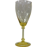 Old Dominion 10 oz Goblet by Heisey in Sahara Yellow