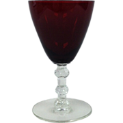 4 oz Ruby Flared Goblet By Huntington Glass