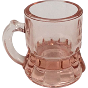 Depression Glass Pink Shot Glass Mini Beer Mug