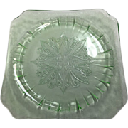 Depression Glass Adam Plate By Jeannette In Green