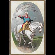 Vintage Patriotic Postcard George Washington On Horse