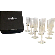 Vintage Waterford Crystal Small Footed Glasses Set of 10 in Original Box