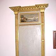 Exceptional Philadelphia Looking-Glass,  Mirror C. 1815