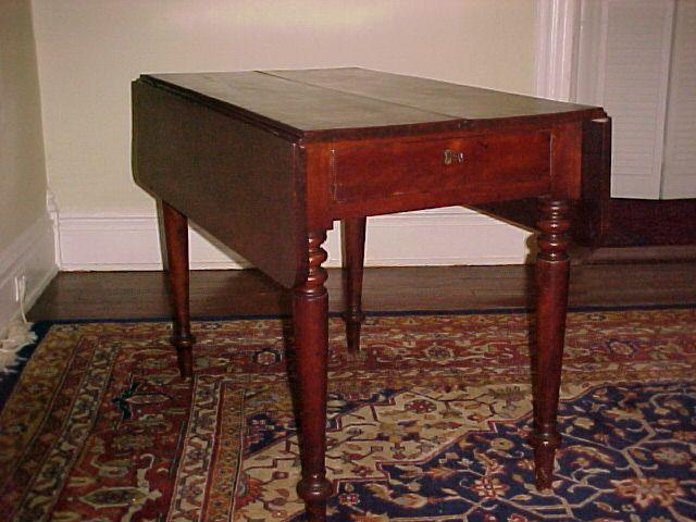Scottish Short-Drop Leaf  Mahogany Table  C. 1830 original character