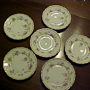 Prussian Porcelain Dessert Plates Carl Tielsch C.1900 (set of 6)