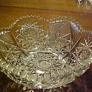 Cut Glass Bowl American Brilliant  C. 1900