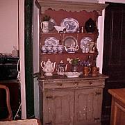Dutch stepback painted Cupboard, C. 1780