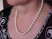 Estate Akoya Cultured 10-10.5 mm Pearl Necklace 14K gold clasp