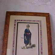 Joseph Brant Mohawk Chief Framed Engraving 1857