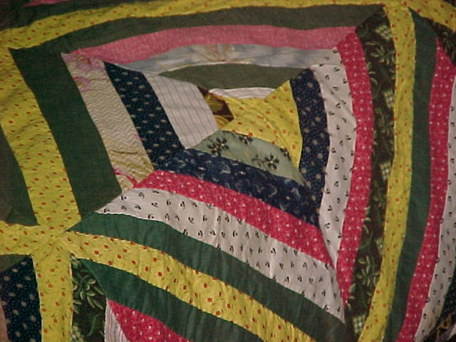 """Vintage Quilt """"Log Cabin"""" Hand Made from Shenandoah from ..."""