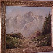 Impressionistic Landscape oil on canvas signed F. Winter, Munich