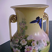 Nippon Vase hand painted early 1900's