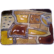 David Andersen Sterling Enamel Brooch Pin Mid Century Modernist Autumn Norway .925