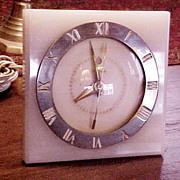 Deco 1930's Marble/brass Electric Alarm Clock