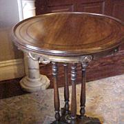Walnut Polychrome Table C. 1920
